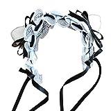 【J's select】猫耳 ねこ耳 レディース レース ヘアアクセサリー カチューシャ 髪飾り (Black)