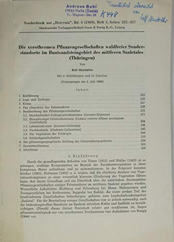 Die xerothermen Pflanzengesellschaften waldfreier Sonderstandorte im Buntsandsteingebiet des mittleren Saaletales (Thüringen)