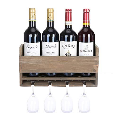 Halcent Madera Botelleros Vino Botellero Pared Estante de Vino