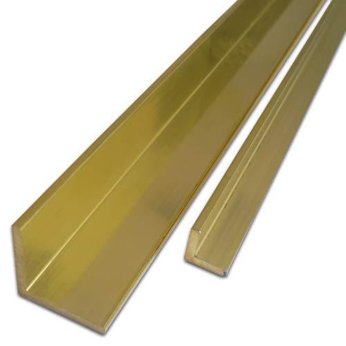 B&T Metall Messing Winkel 10 x 10 x 2 mm aus CuZn39Pb3 (Ms58) Länge ca. 1 mtr. (1000 mm +0/- 3 mm)