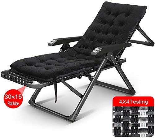 DAGCOT Liegestuhl faltbare Lounge Chair Folding Camping-Stuhl, Klappliegestuhl, Schwerelosigkeits Tragbares Mehrzweck Folding Lehnstuhl for Rücken Faule Napping Stuhl im Freien Garten Terrasse Sonnenl