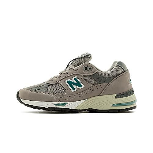 New Balance 991 W991ani - Zapatillas deportivas para mujer, color gris y verde (Numeric_39)