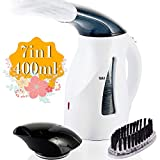 666 SIX BY SIX Steamer for Clothes Steamer, 400ml Big Capacity, 7 in 1 Portable Handheld Garment Steamer for Travel/Home,1100W Adjustable Wrinkle Remover/Boil Water/Sanitize with 2.2M Wire