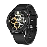 DTNO.1 DT78 1.3 inch Health Care Fitness Tracker Smart Sports Watch IP68 Waterproof Blood Pressure Blood Oxygen Heart Rate Sleep Monitor (Black Silicone)