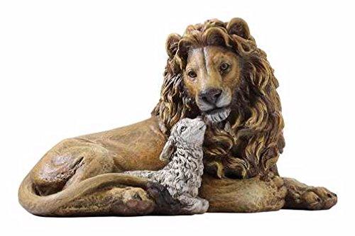Joseph Studio Lion and Lamb Laying Together Religious Christmas Figurine