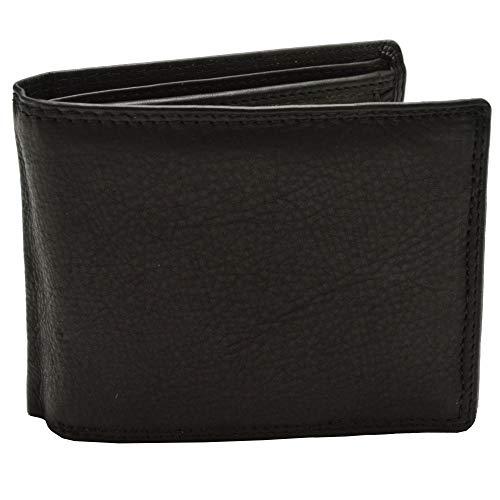 flevado Schwarze Spirit of Nature Herrengeldbörse echt Leder Brieftasche zum spitzen Preis