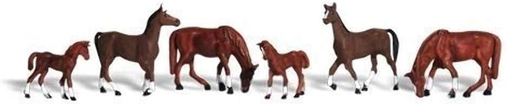 Chestnut Horses HO Scale Woodland Scenics
