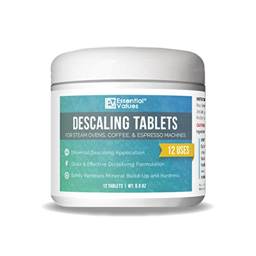 Descaling Tablets (12 Count/Up To 12 Uses) For Jura, Miele, Bosch, Tassimo Espresso Machines and Miele Steam Ovens by Essential Values -  43211-1092