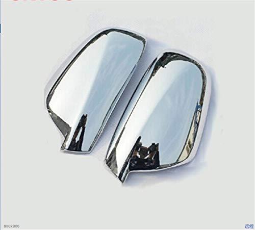 NAWQK For 2004-2012 Peugeot 307 CC 407 SW Puerta Lateral del ala Cromo del Espejo de visión Trasera de la Cubierta del Casquillo Accesorios 2pcs por el Coche stying