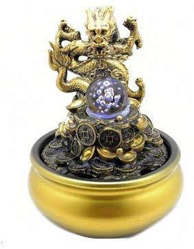 Knoijijuo Harz Fließendem Wasser Brunnen Asiatischen Drachen Glück Feng Shui Ball Büro Desktop Dekoration Handwerk Chinesische Geschenke
