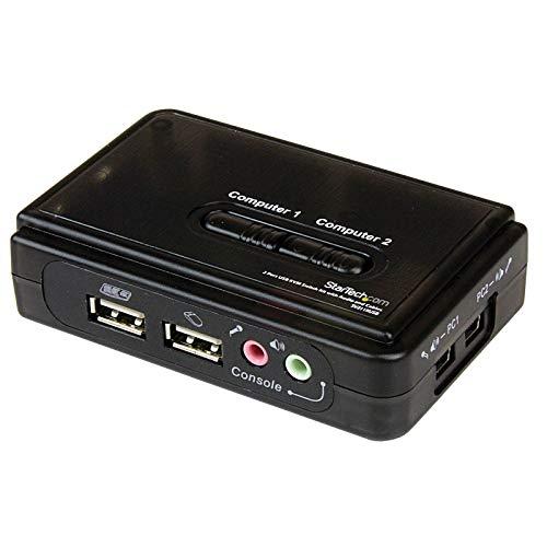 Startech.COM 2-poorts USB KVM switch Kit met audio en kabels - 2-voudige USB VGA desktop schakelaar incl. kabel