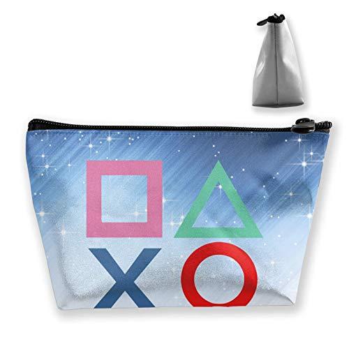 wenxiupin Playstation Joypad Poker Skull Hearts Card Black Lazy Make Up Bag Bolso de Mano Cosmetic Train Case Organizador de Gran Capacidad