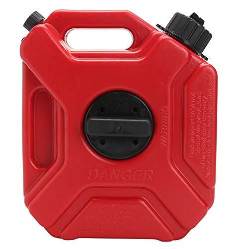 GCDN 3L Gas Tank, Plastik Tragbar Antistatisch Kanister Kraftstofftank mit Halterung Zubehör und Leitung für Motorrad Auto ATV-Utv Bootsanhänger