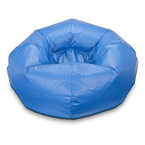 Bean Bag Chair Medium Standard Vinyl Cozy Comfort for Kids and Teens Bedroom Living Room Accessories Home Collection Great for Reading Playing Video Games Watching Tv and Relaxing. (Black)