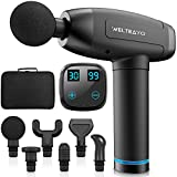 Muscle Massage Gun, WELTEAYO Handheld Deep Tissue Muscle Massager, 30 Speeds Electric Hand-held