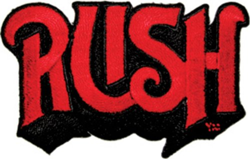 RUSH Logo, Officially Licensed Original Artwork, Premium Quality Iron-On/Sew-On, 3