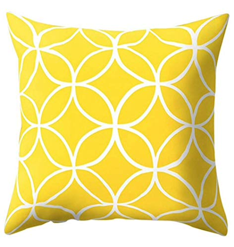 The Beach Stop Creative Patterned Soft Cushion Covers (Yellow Circles)