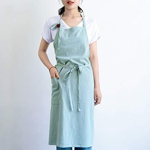 YLCJ Japanse stijl eenvoudige katoen worstjes keuken Lovely Dining Wear MS volwassen werkkleding (kleur: lichtblauw)