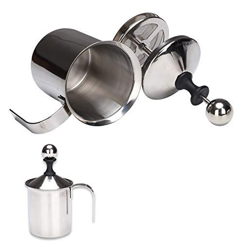 Montalatte manuale da 400 ml, in acciaio inox manuale manuale per cappuccino e caffè.