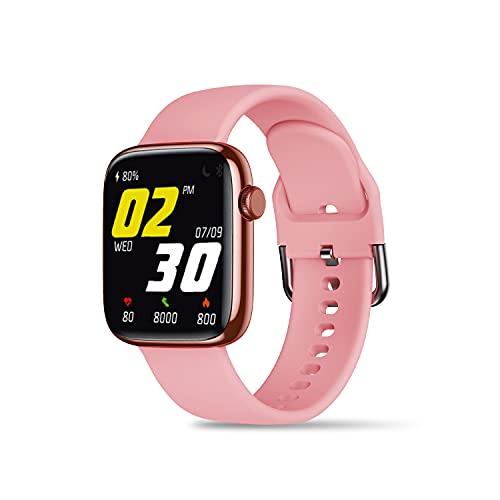 Foxin FoxFit Amaze Pro Smart Watch with Blood Oxygen (SPO2), Blood Pressure, Heart Rate, Activity Tracker, Multiple Sports Modes, Breathe Training, Sleep Monitor, Camera & Music Control, IP68 Water & Dustproof