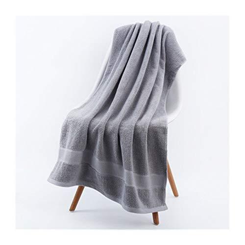Super Soft Towel 2pcs Bath Towel Large Size Towelling Bathrobe High Absorbent Terry Towels Thick Cotton Solid Bath Towel Soft Beach Towel for Adults,Towels Set (Color : Dark Gray, Size : 70x140cm)