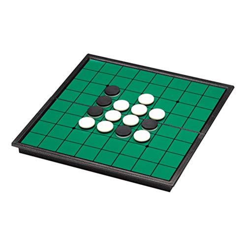 NUOBESTY Reversi Othello Strategie Brettspiel mit Faltbarem Magnetbrett Und Stücken für zu Hause Und Reisen