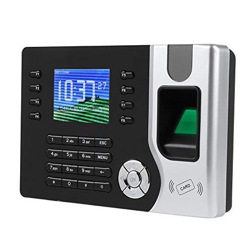 ASHATA Fingerabdruck Zeiterfassung,2.4 Zoll Farbdisplay Fingerprint Zeituhr RFID Karte Recorder,Biometrisch Fingerabdruck Anwesenheits Zeiterfassung Uhr Mitarbeiter Check-in Recorder EU(Schwarz)