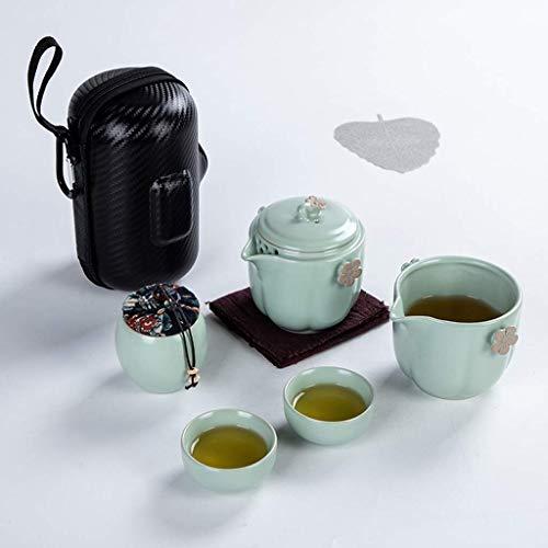 Sgxiyue Tea Travel Tea Set Kung Fu TeaSet Ceramic Portable Teapot Porcelain Teaset Gaiwan Tea Cups of Tea Ceremony