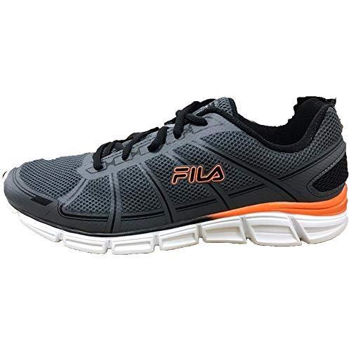 Fila Memory SPEEDGLIDE 3 Mens Running Shoe (8) Gray and Orange