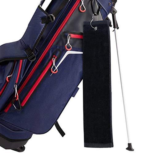 DAUERHAFT Toalla de Limpieza de Golf Ligera y Absorbente, para Deportes al Aire Libre, para Golf(Black)
