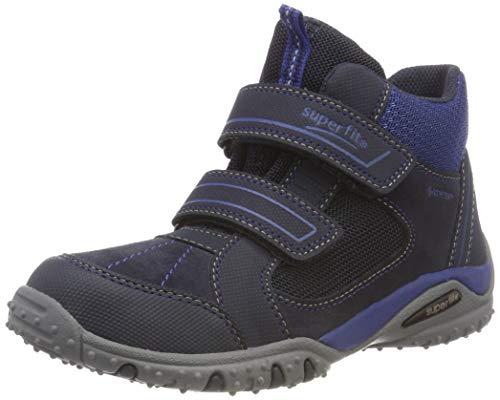 Superfit Jungen SPORT4 Hohe Sneaker, Blau (Blau/Blau 81), 34 EU