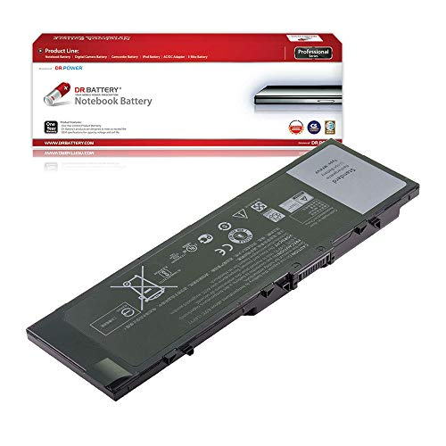 DR. BATTERY Laptop Battery for Dell T05W1 MFKVP Precision 15 7510 7520 17 7710 7720 M7510 M7710 M28DH 1G9VM 451-BBSB 451-BBSF GR5D3 RDYCT [11.4V/7950mAh/91Wh]