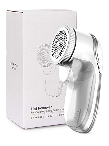 QIC Fabric Shaver, Rechargeable Lint Remover with 3-Blades, Dual Protection, Effectively and Quickly Remove Fuzz for Clothes, Sweater, Curtain, Socks, Couch, Blanket