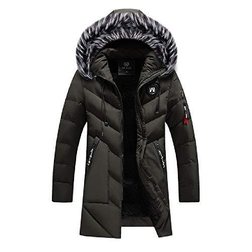 OKJI Nieuwe Mannen Jas Dikke Warm Winter Winddichte Jassen Casual Mens Down Parka Hooded Outwear gewatteerde jas