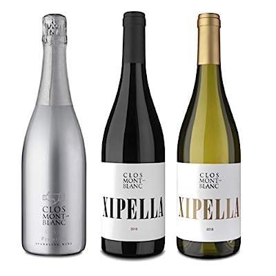 CLOS MONTBLANC Xipella Negre, Vi Blanc & Premium - Spanish Red, White & Cava Wines 75cl, 3 Bottles
