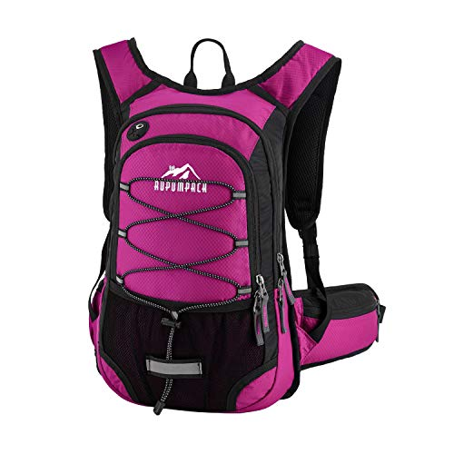 RUPUMPACK Insulated Hydration Backpack Pack with BPA Free 2L Water Bladder - Keeps Liquid Cool Up to 4 Hours, Fit Outdoor Gear for Hiking, Running, Cycling, Camping, Skiing, 15L (Rose)