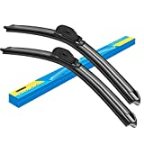 Erasior Windshield wiper blades, 24' + 19' Beam Wiper Car Front Window J U Hook Wiper Blade (set of 2)