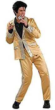Elvis Deluxe Gold Costume Gold X-Large