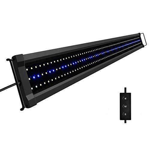 NICREW ClassicLED G2 Aquarium Beleuchtung, Steuerbar LED Lampe mit Mondlicht, IP67 Wasserdicht für Süßwasser-Aquarien, 120-155cm