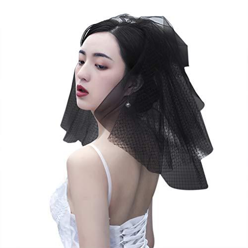 Schwarzer Tüllschleier für Damen, spezieller Hochzeit, Brautschmuck, Kathedrale mit Schleier für den Tag der Toten