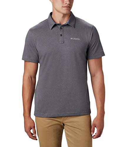 Columbia Thistletown Park Polo, UV Sun Protection, Breathable, Gris City/Requin, L Homme