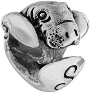 Sanibel Island, Fl - Adorable Manatee 925 Sterling Silver Charm Bead - Fits European Charm Bracelets or Necklaces like Pandora