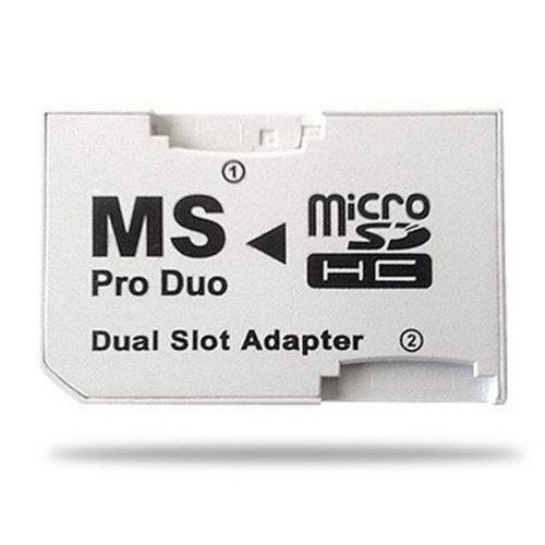 Tarjeta Dual Micro SD TF Memory Stick Pro duo adaptador Sony PSP SLIM 2000 3000