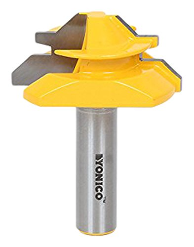 Yonico Router Bits Lock Miter 45 Degree - Up to 3/4-Inch Stock 1/2-Inch Shank 15127