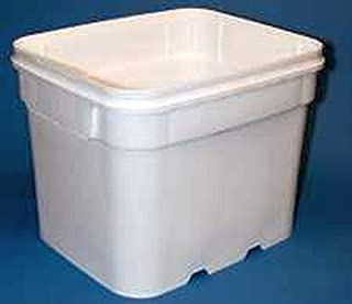 8 gal.Square Bucket and lid, recessed Handle, Ez Stor, 6 Pack