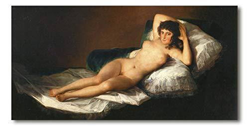 Cuadro Decoratt: La maja desnuda - Francisco de Goya 95x48cm. Cuadro de impresión directa.