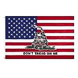 YYOBK Banderas De Banderas Al Aire Libre De 3 Pies X 5 Pies, Banderas Al Aire Libre De Ventiladores Deportivos, Bandera De Gadsden Americana, para Hogar Y Desfiles, Partido Oficial, 2 Unids