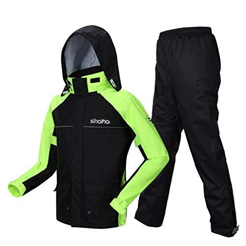 FHMHJH - Chaqueta impermeable para hombre y adultos, impermeable, con capa de Raincoat