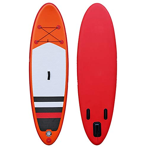 NgMik Tabla De Surf Inflable Inflable Sup Todo Alrededor De La Tarjeta De Paleta con Accesorios Perfectos for El Turismo De Pesca Yoga Estable (Color : Red, Size : 300x76x15cm)