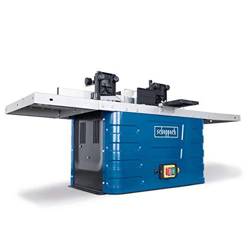 Scheppach Fräsmaschine HF50 (1500 Watt, 230 – 240 Volt, Spannzangen von 6,8 bis 12 mm, einstellbare Spindelhöhe max. 40mm, variable Drehzahlregulierung, inkl. Tischverbreiterungen)